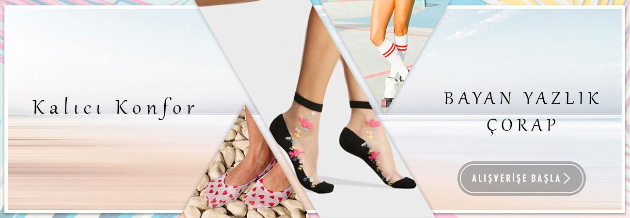 Bayan Yazlık Çorap